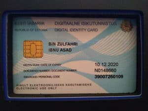 e-Resident Card - Republic of Estonia Digital Identity Card